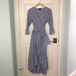 Who what wear wrap maxi dress